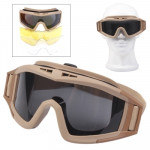 Desert Locusts Military Glasses (3pcs UV400 Protection Lens in one packaging, the price is for 3pcs)