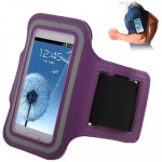 Sports Armband Case with Earphone Hole for Samsung Galaxy SIII mini/ i8190 , Galaxy Trend Duos / S7562 (Purple)