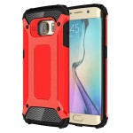 For Samsung Galaxy S6 Edge / G925 Tough Armor TPU + PC Combination Case (Red)