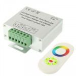 RGB LED Controller with RF Touch Remote Controller for LED Strip Light, DC 12-24V