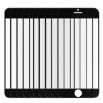 10 PCS iPartsBuy for iPhone 6 Plus Front Screen Outer Glass Lens(Black)