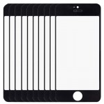 10 PCS iPartsBuy for iPhone 5 & 5S Front Screen Outer Glass Lens(Black)