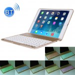 Clavier QWERTY or pour iPad Air 2 Pliable Réglable 0 - 135 Degrés Aluminium Alloy Tablet Housse Etui de Protection + Slim Blu...