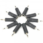 100 pcs 3.5mm Male to 6.35mm Female Mono Sound Converters Adapters