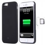 For iPhone 6 3 in 1 Dual SIM Adapter + 1800mAh Power Bank + Ultra Thin Backup External Case(Black)