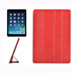 For iPad Air / iPad 5 Crazy Horse Texture Horizontal Flip Leather Case with 4-folding Holder(Red)