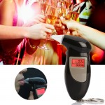 LCD Digital Alcohol Tester Breathalyzer(Black)