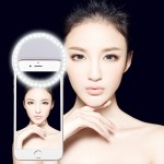 Charging Selfie Beauty Light for Phones with Adjustable Clip & USB Cable(White)