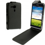 Vertical Flip Leather Case for Sony Xperia SP / M35h (Black)