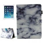 For iPad 9.7 inch 2017 / iPad Air / iPad Air 2 Universal Black and White Marble Pattern Horizontal Flip Leather Protective Case