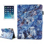 For iPad 9.7 inch 2017 / iPad Air / iPad Air 2 Universal Blue Marble Pattern Horizontal Flip Leather Protective Case with Holder