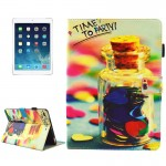 For iPad 9.7 inch 2017 / iPad Air / iPad Air 2 Universal TIME TO PARTY Words Pattern Horizontal Flip Leather Protective Case wit