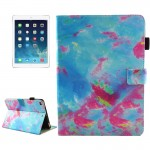 For iPad mini 4 / mini 3 / mini 2 / mini Universal Blue and Pink Marble Pattern Horizontal Flip Leather Protective Case with Hol