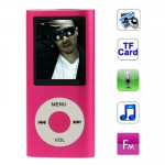1.8 inch TFT Screen Metal MP4 Player with TF Card Slot, Support Recorder, FM Radio, E-Book and Calendar (Magenta)