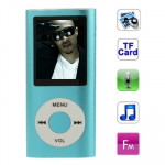 1.8 inch TFT Screen Metal MP4 Player with TF Card Slot, Support Recorder, FM Radio, E-Book and Calendar (Baby Blue)