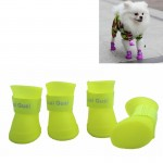 Lovely Pet Dog Shoes Puppy Candy Color Rubber Boots Waterproof Rain Shoes, M, Size: 5.0 x 4.0cm(Yellow)