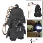 Black Samurai Style Key Chain with Light & Sound Effects(Black)