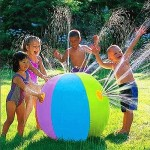 Outdoor Summer Children Lawn Beach Inflatable Water Fountain PVC Ball, Inflated Size: 60 x 60 x 60cm