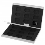 2x 9 in 1 Memory Card Protective Case Box for TF Card, Size: 93mm (L) x 62mm (W) x 10mm (H), Silver(Silver)
