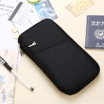 Multi-function Passport Travel Wallet Certificates Ticket Case with Card Slots & Wallet (Black)