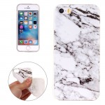 For iPhone 5 & 5s & SE White Marbling Pattern Soft TPU Protective Back Cover Case