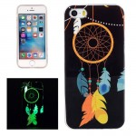 For iPhone 5 & 5s & SE Noctilucent Wind Chimes Pattern IMD Workmanship Soft TPU Back Cover Case