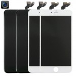2 PCS Black + 2 PCS White iPartsBuy 4 in 1 for iPhone 6s Plus (Front Camera + LCD + Frame + Touch Pad) Digitizer Assembly