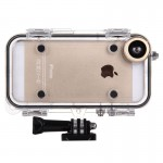 HAMTOD for iPhone 5 & 5S & SE Extreme Sports IP68 Waterproof Case with 170 Degrees Wide Angle Lens, Compatible with GoPro Access
