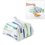 Foldable Thickened Aluminum Foil Food Heat Preservation Cover, Size: S (22 x 22 x 11.5cm)(Green)