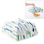 Foldable Thickened Aluminum Foil Food Heat Preservation Cover, Size: L (37 x 37 x 15cm)(Green)