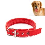 Foam Cotton Polyester Pet Collars Pet Neck Strap Dog Neckband Cats Dogs Collars, 3cm x 47cm (Red)