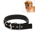 Foam Cotton Polyester Pet Collars Pet Neck Strap Dog Neckband Cats Dogs Collars, 1.5cm x 39cm (Black)