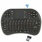 UKB-5400-RF 2.4GHz Mini Wireless Keyboard Mouse Combo with Touchpad & USB Receiver, English Keyboard / Russian Keyboard(Black)