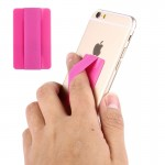 Universal Ultrathin Finger Grip Strap for Mobile Phones and Tablets, Size: 53 x 33 x 1.8 mm(Magenta)