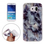 For Samsung Galaxy S6 / G920 Brown Marbling Pattern Soft TPU Protective Back Cover Case