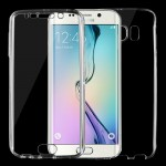 For Samsung Galaxy S6 Edge / G925 0.75mm Double-sided Ultra-thin Transparent TPU Protective Case (Transparent)