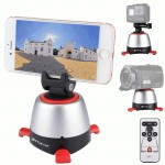 PULUZ Electronic 360 Degree Rotation Panoramic Tripod Head with Remote Controller for Smartphones, GoPro, DSLR Cameras(Red)