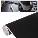 DIY PVC Carbon Fiber Crystal Matte Frosted Membrane Sticker for Car, Size: 152cm x 50cm(Black)