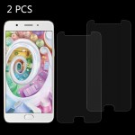 2 PCS OPPO F1s 0.26mm 9H Surface Hardness 2.5D Explosion-proof Tempered Glass Screen Film