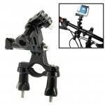 Fixation guidon GoPro Caméra Vélo Bar Support Monter avec 3 Way Bras pivotant HD HERO4 / 3+ 3/2/1 Noir - wewoo.fr