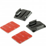 2 x Curved Surface + 2 x 3M VHB Adhesive Sticky Mount for GoPro HERO4 / 3+ / 3 / 2 /1