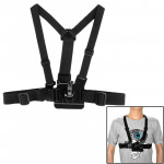 ST-25 Adjustable Body Chest Strap Mount Belt Harness with Buckle Bracket Screw for GoPro Hero 4 / 3+ / 3 / 2 / 1(Black)