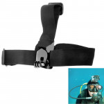 ST-24 Anti-skid Adjustable Elastic Head Strap Belt for GoPro Hero 4 / 3 + / 3 / 2 / 1(Black)