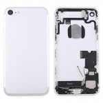 iPartsBuy for iPhone 7 Battery Back Cover Assembly with Card Tray(Silver)