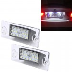 2 PCS License Plate Light with 18 SMD-3528 Lamps for Audi,2W 120LM, DC12V (White Light)