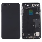 iPartsBuy for iPhone 7 Plus Battery Back Cover Assembly with Card Tray(Black)