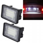 2 PCS License Plate Light with 18 SMD-3528 Lamps for Mercedes-Benz GLK X204 ,2W 120LM, DC12V (White Light)