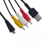 Digital Camera 2 in 1(USB + AV) Cable for SONY MD3 / W390 / T99 / WX5