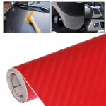 Car Decorative 3D Carbon Fiber PVC Sticker, Size: 127cm x 50cm(Red)