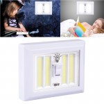 Mini White Light COB LED Switch Wall Light Night Light Lamp